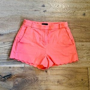 "J. Crew Women's Pink Scalloped 3"" Shorts Size 2"